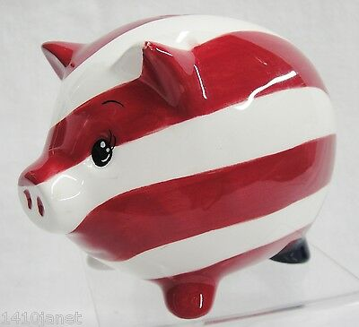 Patriotic Piggy Bank Red White and Blue American Flag Cute