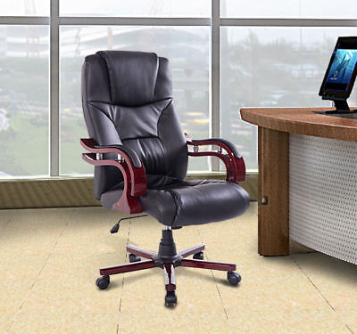 Swivel Executive Computer Office Chair PU Seat Back Desk Chair Adjustable New