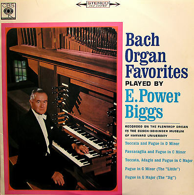 Bach Organ Favourites Played By E. Power Biggs EXCELLENT (CBS SBR 235223)