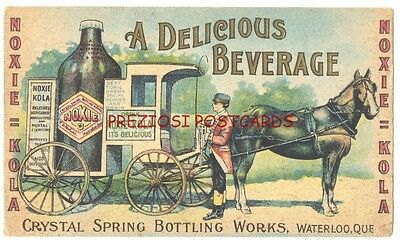 Rare NOXIE KOLA Ad TONIC BEVERAGE for HEALTH Huge BOTTLE HORSE DRAWN WAGON 1907