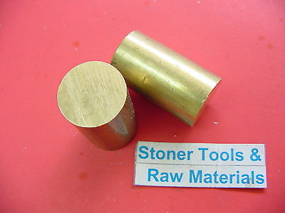 "2 Pieces 1-1/2""  BRASS C360 SOLID ROUND ROD 2"" long Lathe Bar Stock 1.50"" OD H02"