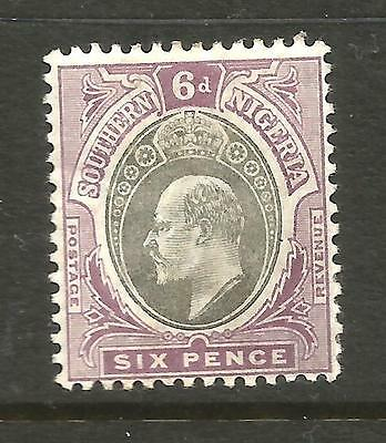 SOUTHERN NIGERIA  1904-09  6d   KEVII    MLH    SG 27