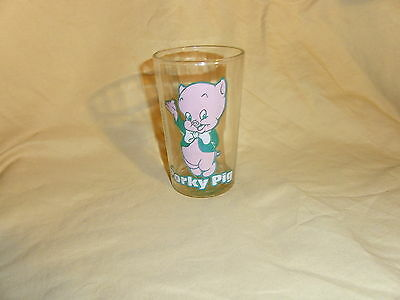Vtg Looney Tunes Porky Pig Warner Bros/Welch's Jelly Glass Bugs Bunny on Bottom