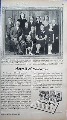 1947 General Mills Cereals Mr Mrs Fred Knop 10 Children Crawford County Iowa ad
