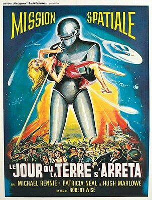 "VINTAGE Scifi movie poster CANVAS ART PRINT  16""X 12"" Mission Spatial"