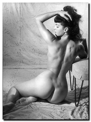 Bettie Page Vintage Pinup EXTRA LARGE CANVAS PRINT A1 Black & White photo F