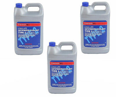 For Honda Acura Sterling 3 Gallons Engine Coolant Antifreeze Type 2 Blue Genuine