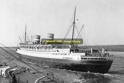 rp12973 - Holland America Liner - Nieuw Amsterdam , built 1938 - photo 6x4