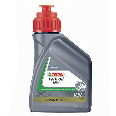 Castrol Enduro/MX/Bike/Motorcycle/Motocross Fork Oil 0.5 Litre 500ml - 15W