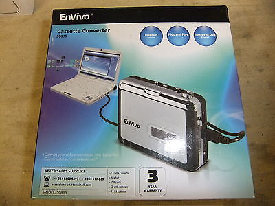 Cassette Converter Envivo 50815 copy tapes onto CD or PC