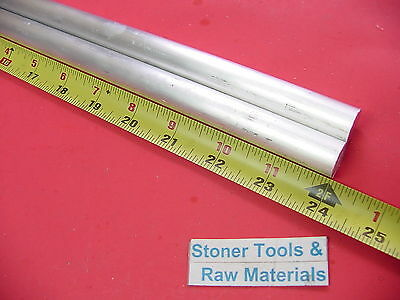 """2 pieces 5/8"""" ALUMINUM 6061 ROUND ROD 24"""" LONG T6511 .625 Solid Lathe Bar Stock"""