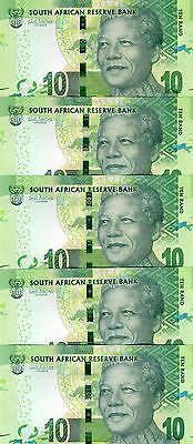 LOT South Africa, 5 x 10 rand, ND (2012) (2014 Omron), P-133-NEW, UNC