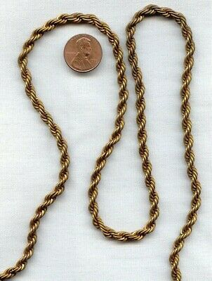 3 FEET VINTAGE SOLID BRASS FANCY 5mm. FRENCH ROPE CHAIN  D279