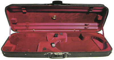 Hidersine Case Violin Viola Double. Wooden Arched Top