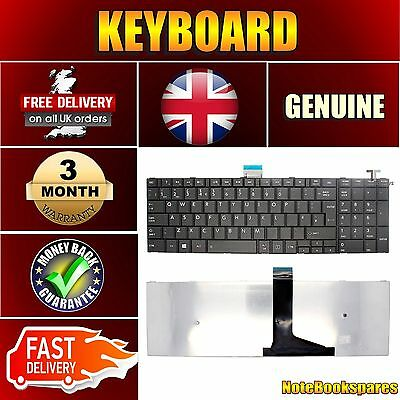 New  Toshiba Satellite C55-A-17P Notebook Laptop Keyboard Uk Black