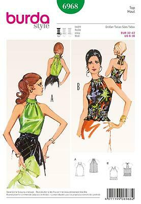 Burda Sewing Pattern Ladies Vintage Retrol Look Strapless Tops Sizes 6 - 16 6968