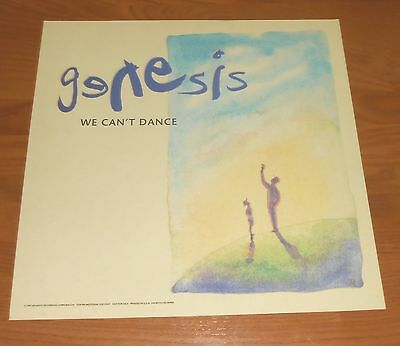 Genesis We Can't Dance Poster 2-Sided Flat Square 1991 Promo 12x12 Phil Collins