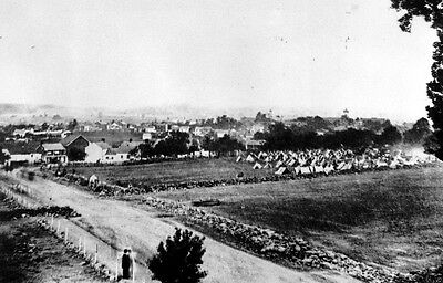 Battle of Gettysburg - View of town from Cemetery Hill 8x10 Civil War Photo