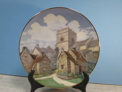 """David Winter Collector Plate """"Cotswold Village"""""""