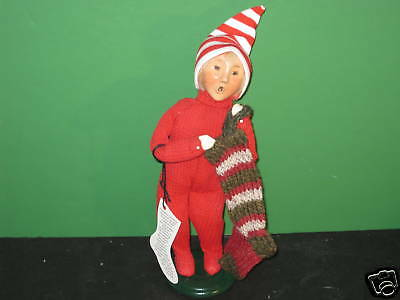 Byers Choice '04 Christmas Traditions Boy With Stocking