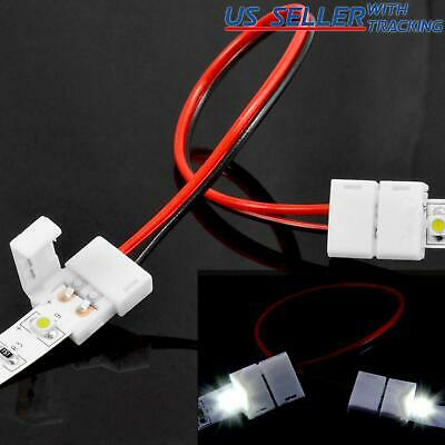 10 X PCB Connector Adapter for 8mm 2835 Single Color LED Strip Lighting