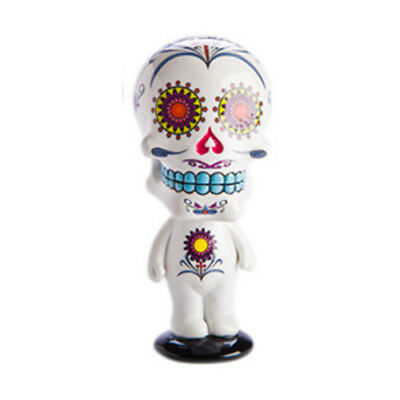 Purity White with Bobble Head Band Candy Skull Skeleton Figure Complete Fun