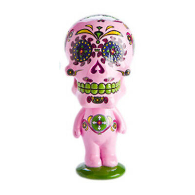 Girly Colour Pink Design with the Group Bobble Head Candy Skull Vehicle Display