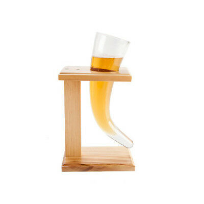 Viking Drinking Horn Beer Glass with Stand Restaurant Decoration Bars Decors