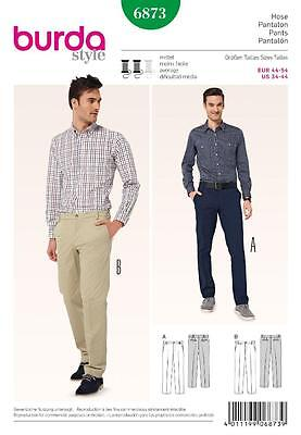 Burda Sewing Pattern Mens Pants Trousers  Sizes 34 - 44 6873