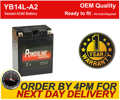 Gel Upgrade Factory Sealed Uprated Motorcycle Battery YB14L-A2 AGM