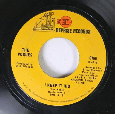 Rock 45 The Vogues - I Keep It Hid / My Special Angel On Reprise Records
