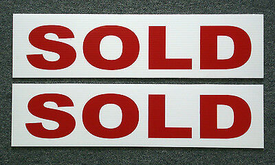 (2) SOLD 6 x 24 Real Estate Sign Riders 2 sided Outdoor NEW FREE SHIP