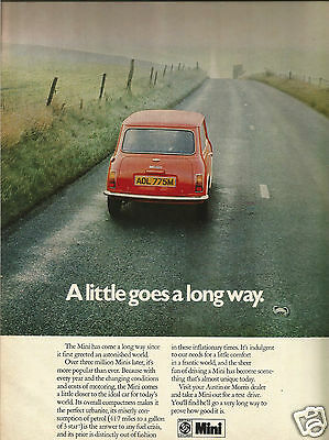 1982  Austin Mini - British Leyland Advertisement