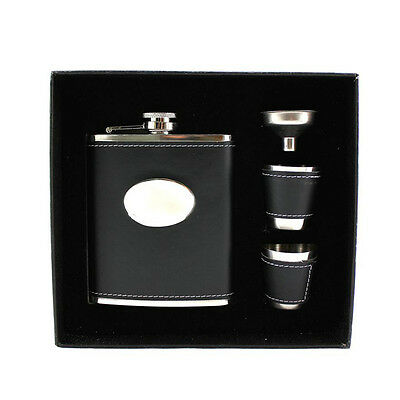 7oz Set Portable Stainless Steel Hip Flask Wine Bottle Flagon Gift Box