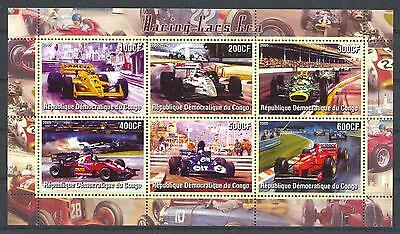 (016156) Racing Cars, Congo - Private issue -