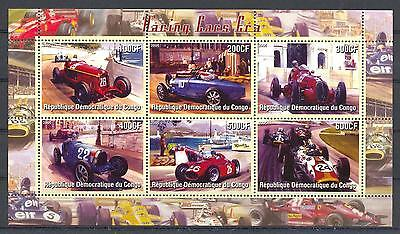 (016157) Ship, Lighthouse, Racing Cars, Congo - Private issue -