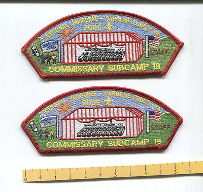 (2) - 2005 National Scout Jamboree JSP Commissary STAFF - Subcamp 19 - -