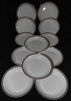 Heinrich & Co. Selb Bavaria Imperial Pattern #5843 Set of 12 Coupe Soup Bowls