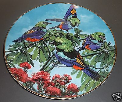 Exotic Birds of Tropique Collectors Series Plate ~ Seven Colored Tanager