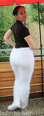 silky soft fuzzy kid mohair sweater Strumpfhose tights Willywarmer M-XL white