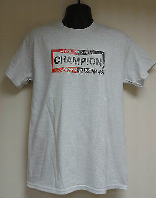 Men's Motorbike T-Shirt - Fitted With Champion Spark Plugs - Sizes: S - 3Xl