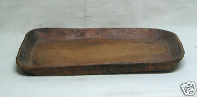 Rectangle Chinese Antique Country Style Hand Carved Wooden Tray Holder H9-1c