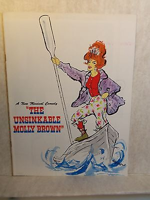 c 1960's Theatre Program THE UNSINKABLE MOLLY BROWN Tammy Grimes