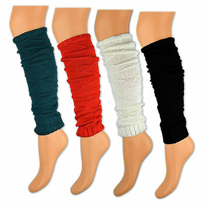 Leg Warmers Black White Red Green in Knitted Design