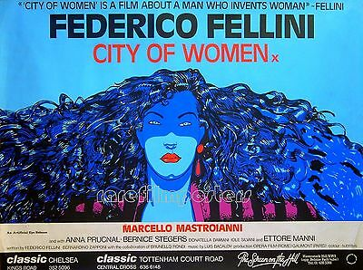 CITY OF WOMEN 1981 Federico Fellini ANDREA PAZIENZA UK QUAD POSTER