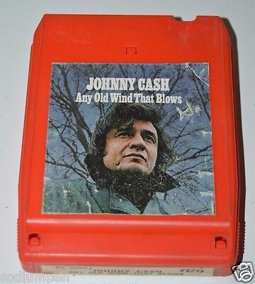 WOW ORIGINAL Vintage Johnny Cash Any Old Wind That Blows Eight 8 Track RARE VHTF