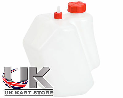 Petrol / Fuel Tank 3 Litre Push Through Red Caps Go Kart Karting Race Racing