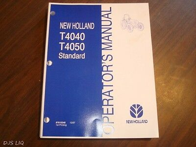 T4040 T4050 NEW Holland Tractor Operator Manual - $20.00 | PicClick