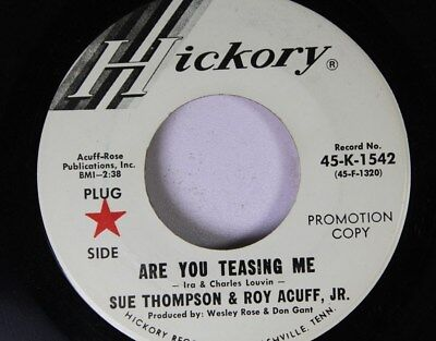 Country Promo 45 Sue Thompson And Roy Acuff Jr. - Are You Teasing Me? / Thoughts