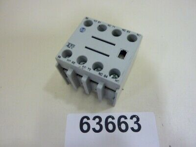 Allen Bradley Auxiliary Contact Block 100-FA22 Ser B Used #63663